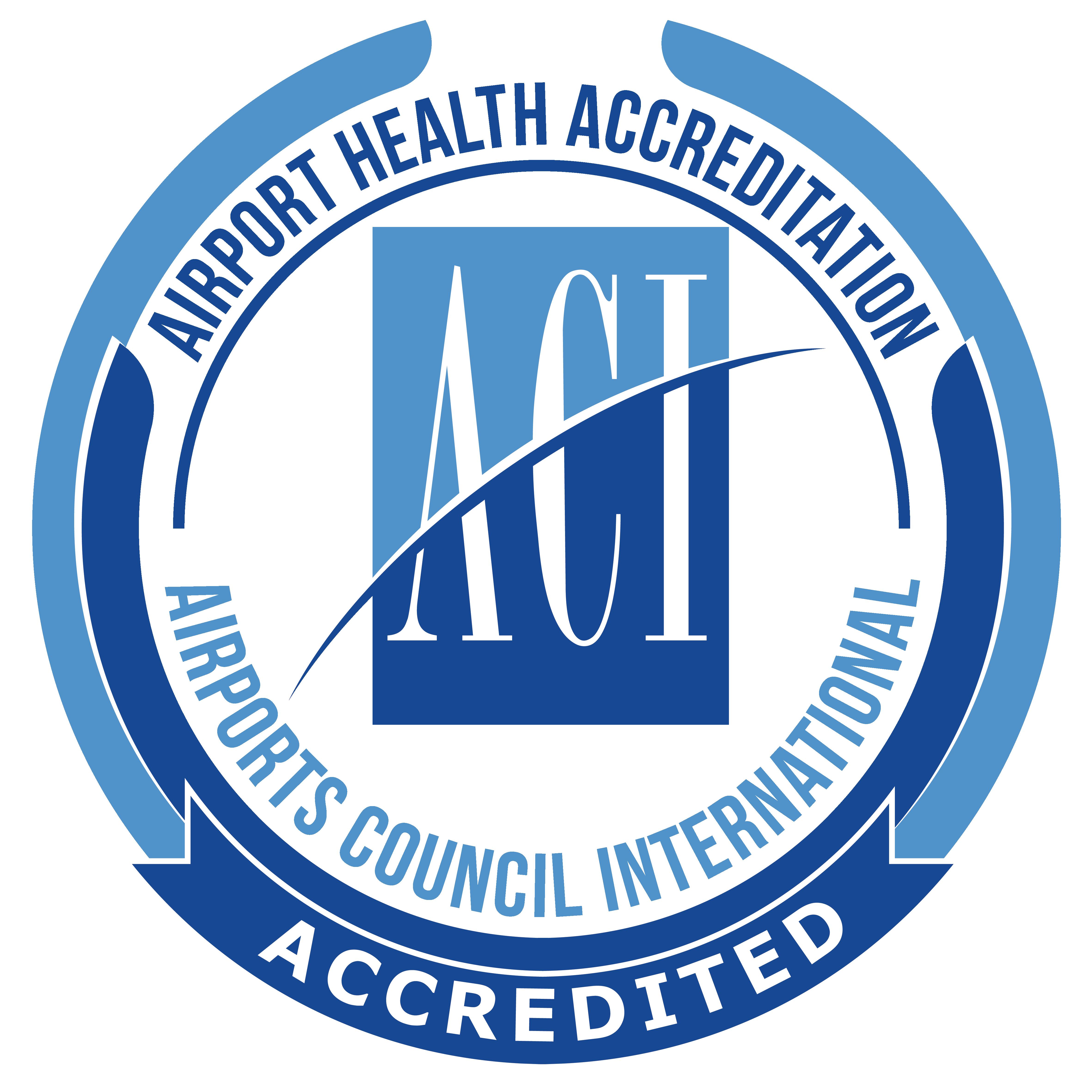Airport Health Accreditation — Airports Council International (ACI) logo