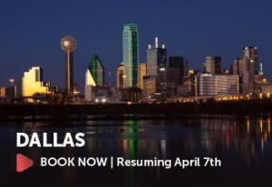 Flights to Dallas begin April 7th. Book Now.
