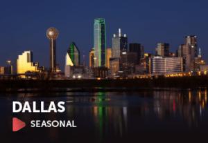 Flights to Dallas are Seasonal