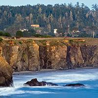 Coastal Cliffs in Mendocino, California.